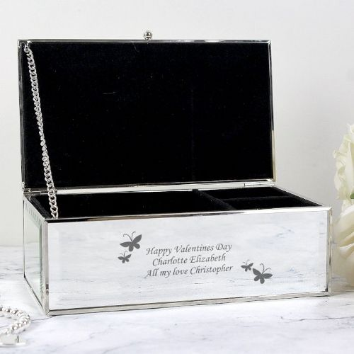 Personalised Butterflies Jewellery Box